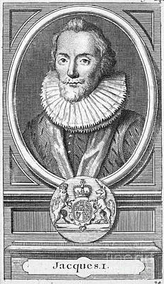 James I (1566-1625) Print by Granger