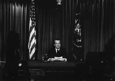 Nixon Presidency. Us President Richard Print by Everett