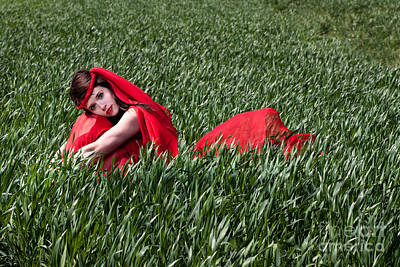 Horizontal Photograph - Woman In Red Series by Cindy Singleton