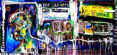 Walmart Painting - 800 Lay-offs by Eddie  Love