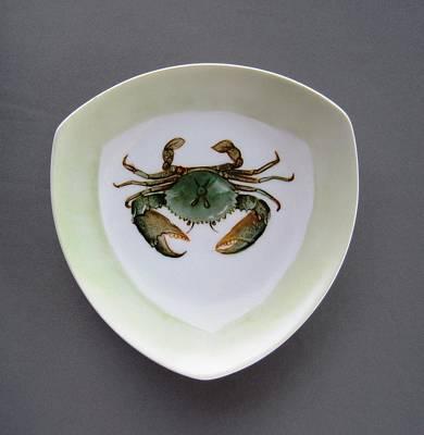 Ceramic Crab Ceramic Art - 866 4 Part Of The Crab Set 1 by Wilma Manhardt