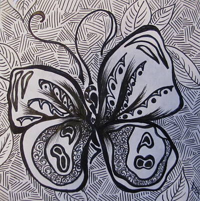 Antennae Drawing - 89 Butterfly by Abigail Gomez