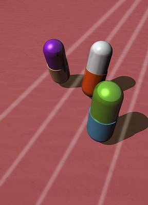 Healthcare And Medicine Digital Art - Drugs In Sport, Conceptual Artwork by Victor Habbick Visions
