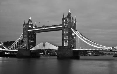 London Skyline Photograph - Tower Bridge by Dawn OConnor