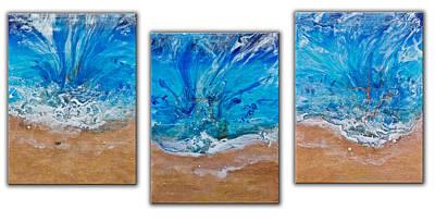 Must Art Painting - A Beautiful Beach by Dora Woodrum