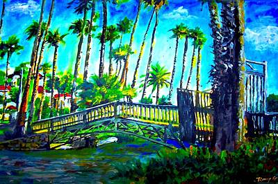 Socal Mixed Media - A Bridge To Home by Rom Galicia