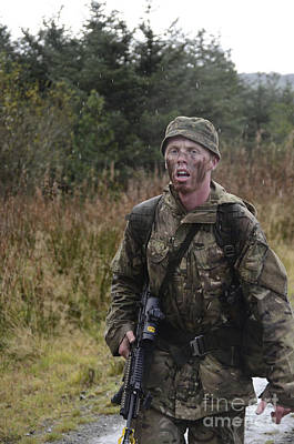 A British Soldier During Exercise Print by Andrew Chittock