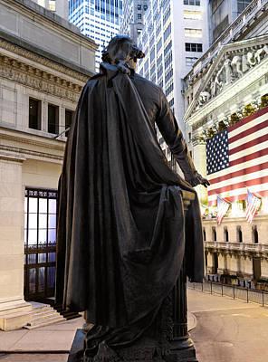 A Bronze Statue Of George Washington Print by Justin Guariglia