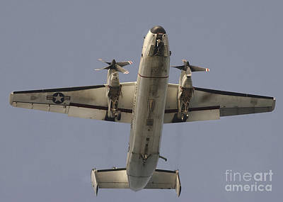A C-2 Greyhound In Flight Print by Stocktrek Images