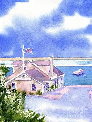 Cape Cod Painting - A Chatham Fish Market by Joseph Gallant