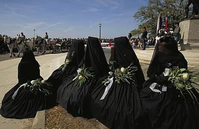 Historical Reenactments Photograph - A Civil War-era Funeral Is Recreated by Ira Block