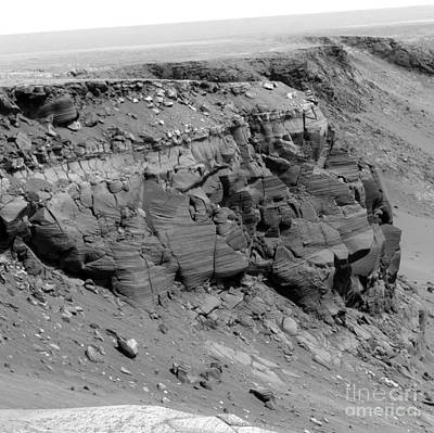 A Cliff On The Surface Of Mars Print by Stocktrek Images