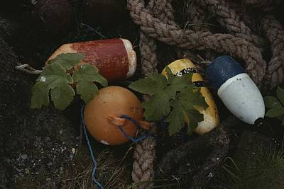 Etc. Photograph - A Close View Of Buoys And A Tangle by Sam Abell