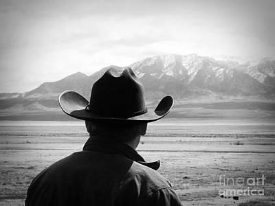 A Cowboy's View Print by Megan Chambers