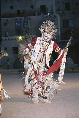 A Dakota Sioux Indian Dances Print by Taylor S. Kennedy