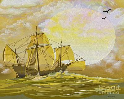 A Day At Sea Print by Cheryl Young
