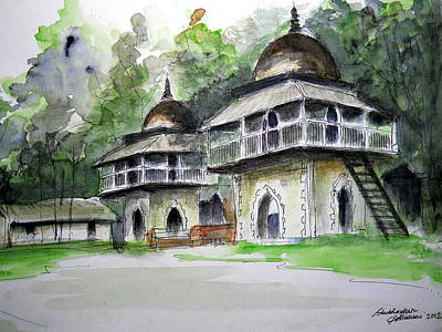 Acclaim Painting - A Day In Mahishadal  by Shubhankar Adhikari