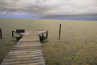 Etc. Photograph - A Dock On  Cay Caulker At Sunset by Stephen Alvarez