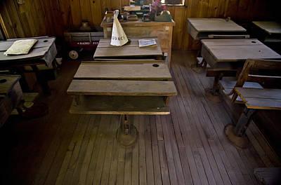 A Dunce Cap Sits On A Desk In An Print by Hannele Lahti