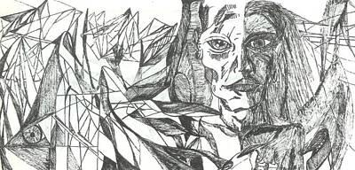 A Face - Sketch Print by Robert Meszaros and Nick Ellena