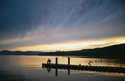Etc. Photograph - A Fisherman At Dawn Tries His Luck by Michael S. Lewis