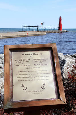 A Fisherman's Prayer At Algoma Lighthouse Print by Mark J Seefeldt