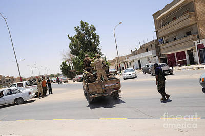 Technical Photograph - A Free Libyan Army Pickup Truck by Andrew Chittock