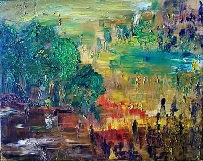 A Glade In The Woods Print by Derya  Aktas