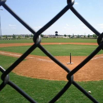 A Great Day For Tball #sports #diamond Print by Kel Hill