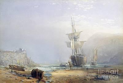 Barrel Painting - A Hazy Morning On The Coast Of Devon by Samuel Phillips Jackson