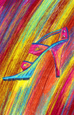Painting - A High Heel by Kenal Louis