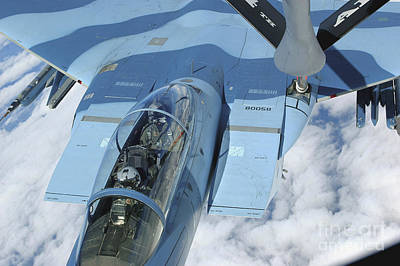 A Kc-135 Stratotanker Provides Print by Stocktrek Images