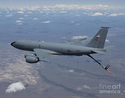 Stratotanker Photograph - A Kc-135r Stratotanker Over Central by HIGH-G Productions