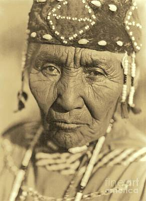 Choker Photograph - A Klamath Woman 1923 by Padre Art