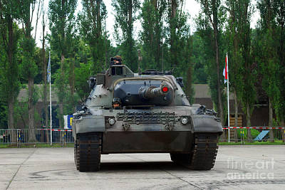 A Leopard 1a5 Mbt Of The Belgian Army Print by Luc De Jaeger
