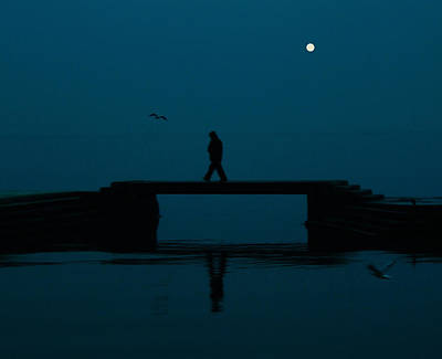 A Lone Man Print by Jasna Buncic