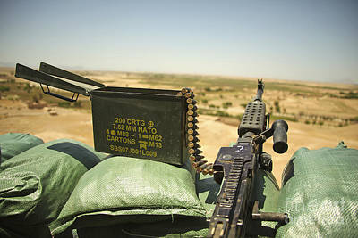 A M240b Medium Machine Gun Print by Stocktrek Images