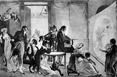 A Magic Lantern Show, Ca. 1855 Print by Everett