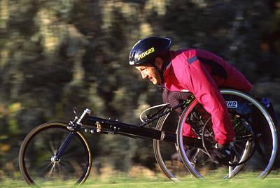 Bike Races Photograph - A Man Training On His Wheelchair Bike by Kate Thompson