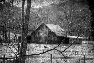 A Memory In Black And White Print by Christine Annas