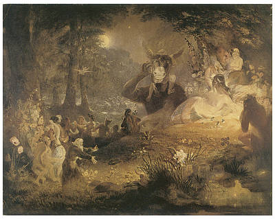 Make Believe Painting - A Midsummer Night's Dream by John Lamb Primus