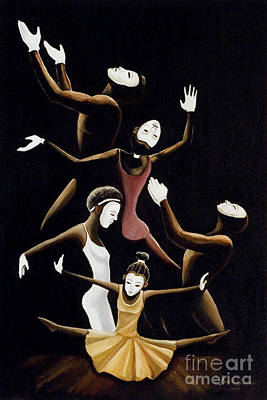 A Mime To Praise Print by Frank Sowells Jr