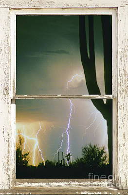 A Moment In Time Rustic Barn Picture Window View Print by James BO  Insogna