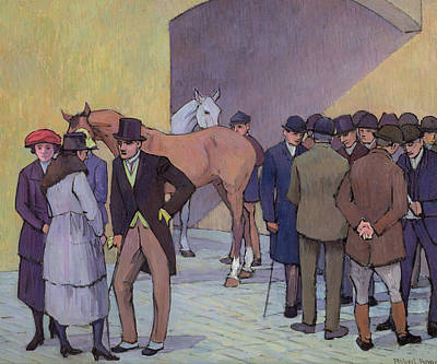 A Morning At Tattersall's Print by Robert Polhill Bevan