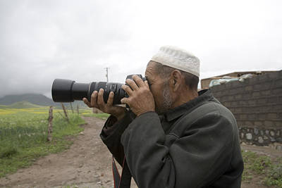 A Muslim Rural Resident Looks Print by David Evans