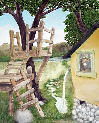 Treehouse Painting - A New Perspective by Will Lewis