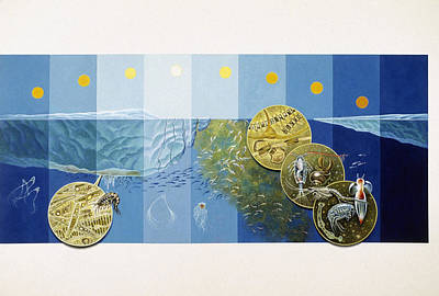 A Painting Depicts The Tiny Life Print by Davis Meltzer