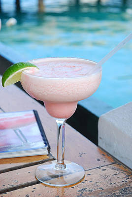 A Pink Sand Margarita Print by Hibberd, Shannon