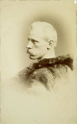 A Portrait Of Fridtjof Nansen Print by Henry Van Der Weyde