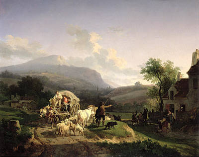 1821 Painting - A Rural Landscape by Auguste-Xavier Leprince